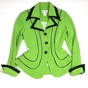 Etoile Paris Vintage Jacket Blazer Green  Peplum